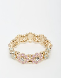New Look Pastel Stretch Bracelet Set Gold