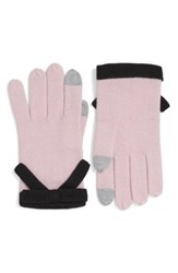 Kate Spade Women's New York Contrast Bow Tech Friendly Gloves Orchid Frost Black