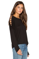 Lanston Bar Shoulder Top Black