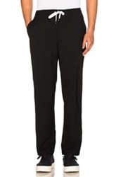 Second Layer Elastic Waist Trousers In Black