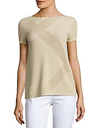 Lafayette 148 New York Solid Bateau Neck Top Gold
