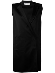 Gianluca Capannolo Tailored Waistcoat Women Cotton Nylon Viscose 42 Black