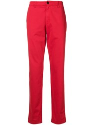 Zadig And Voltaire Straight Leg Trousers Red