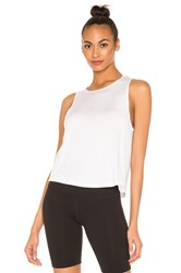 Beyond Yoga Over Under Relaxed Tank White