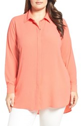 Vince Camuto Plus Size Women's High Low Tunic Blouse