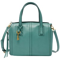 Fossil Emma Leather Satchel Teal