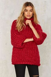 Heavy Knitter Chunky Sweater Pink