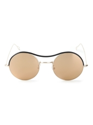 Kyme Round Frame Mirrored Sunglasses Metallic