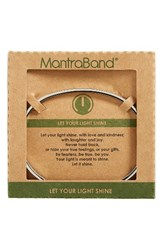 Mantraband Women's Let Your Light Shine Engraved Cuff Silver