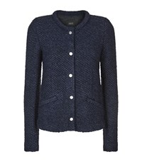 Set Knitted Blazer Cardigan Female Navy