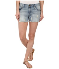 Kut From The Kloth Gidget Shorts Contented Wash Women's Shorts Blue