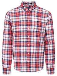 Gant Preppy Poplin Large Check Shirt Red