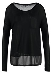 Mavi Jeans Long Sleeved Top Black
