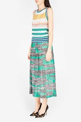 Missoni Women S Zigzag Knit Maxi Skirt Boutique1 Green