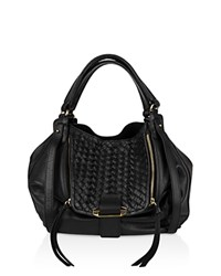 Kooba Jonnie Leather Tote Black Gold