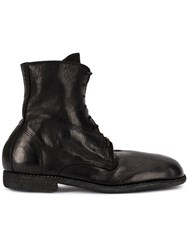 Guidi Lace Up Fitted Boots Black