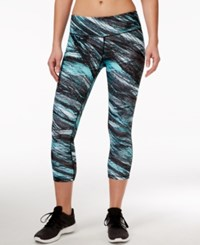 Ideology Printed Cropped Leggings Only At Macy's Crystal Mist