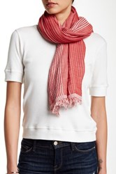 14Th And Union Woven Degraday Striped Scarf Red