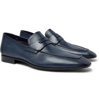 Berluti Lorenzo Leather Loafers Navy