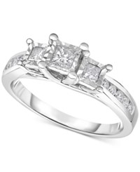 Trumiracle Diamond Three Stone Ring 1 2 Ct. T.W. In 14K White Gold