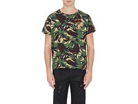 Off White C O Virgil Abloh Men's Camouflage Cotton T Shirt Dark Green
