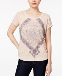 Styleandco. Style Co. Petite Paisley Graphic T Shirt Only At Macy's Mk Cream