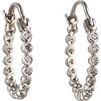 Cathy Waterman Diamond Tiny Hoop Earrings