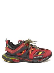 Balenciaga Track Low Top Leather Trainers Red