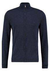 Hugo Boss Green Castor Regular Fit Cardigan Dark Blue