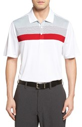 Cutter And Buck Men's Heritage Stripe Polo