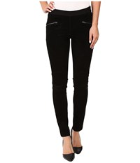 Blank Nyc Suede Pull On Skinny In Shadows Black Women's Jeans