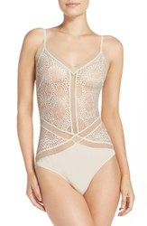 Calvin Klein Women's Endless Bodysuit Ivory Bridal