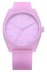 Adidas Process Silicone Strap Watch 38Mm Clear Lilac