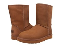 Ugg Classic Short Deco Chestnut Leather Men's Pull On Boots Brown