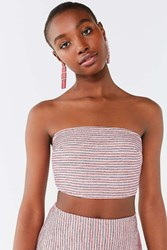 Urban Outfitters Uo Lana Striped Tube Top Red Multi