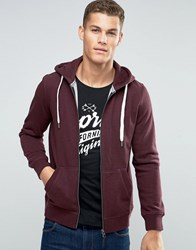 Esprit Zip Up Hoodie Bordeaux Red
