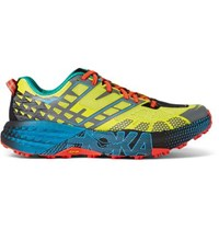 Hoka One One Speed Goat 2 Rubber Trimed Mesh Trail Running Sneakers Yellow