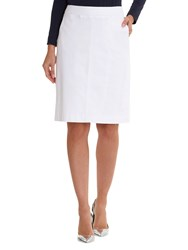 Betty Barclay Cotton Blend Pencil Skirt Bright White