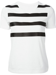 Mm6 Maison Margiela Sparkle Stripe T Shirt