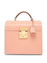 Mark Cross Sara Leather Beauty Case Light Pink