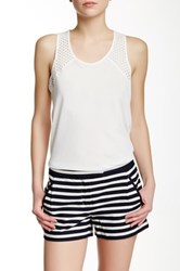 J.Crew Factory Scoop Neck Racerback Tank White