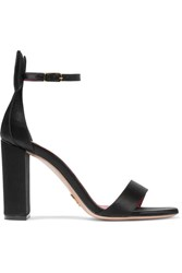 Oscar Tiye Minnie Satin Sandals Black