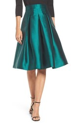 Eliza J Women's Release Pleat Full Skirt Green