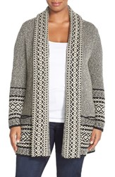 Plus Size Women's Lucky Brand Border Stripe Cardigan