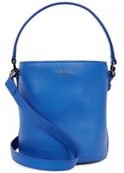 Meli Melo Santina Mini Blue Leather Bucket Bag