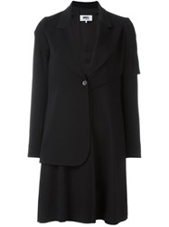 Maison Martin Margiela Mm6 Maison Margiela Layered Sleeves Long Blazer Black
