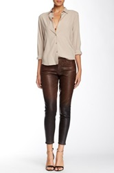 Cj By Cookie Johnson Wisdom Croc Ankle Skinny Pant Brown