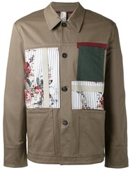 Antonio Marras Patchwork Jacket Green