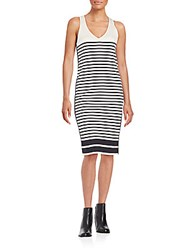 Rag And Bone Avila Striped Racerback Dress Black White