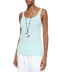Eileen Fisher Organic Cotton Slim Tank Women's Aurora